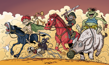 The Four Horsemen of the Apocalypse by Zorkus