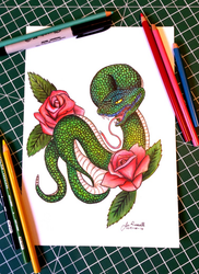 Green Snake by CanadianEhh