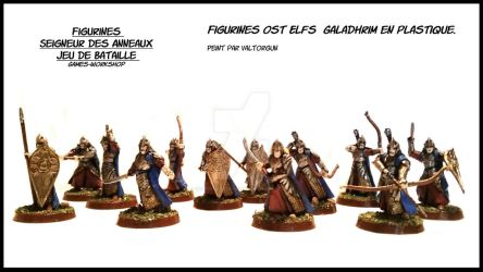 Figurines Warriors Ost Elves Galadhrim. by Valtorgun-le-Grand