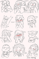 pose-expression thing requests by CutieCakie