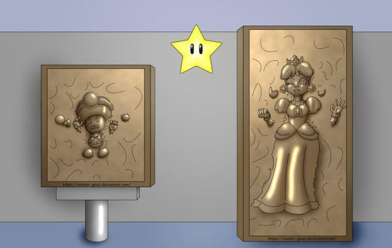 Toadette and Daisy in Carbonite by Master-Geass
