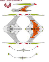 Romulan Bird of Prey mk 3 classic marked by bagera3005