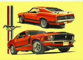 1970 Ford Mustang BOSS 302 by przemus