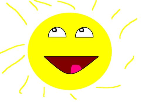 Awesome face sun by RusherRosemary
