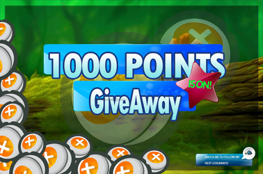 1000 POINTS GIVEAWAY by dailygiveget