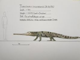 Maastricht formation: Thoracosaurus neocesariensis by paleosir