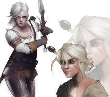 Ciri study by sarty96