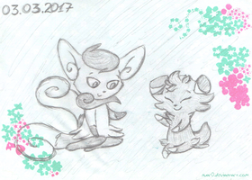 Pokemons in Lviv: Meowstic and Espurr. by Un-Gato
