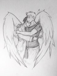 Destiel 2 [pencil] by BackFromHell666