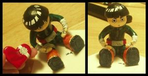 Rock Lee Naruto figurine by MyFebronia