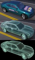 Dodge Charger Wireframe by bryceguy72