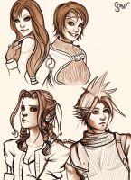 Final fantasy 7 sketch by ScarlettIwater