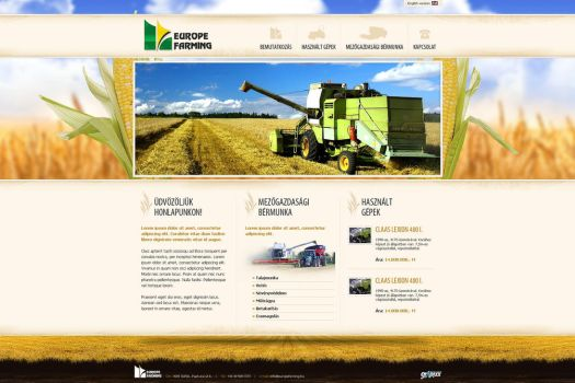 web design: Europe Farming by VictoryDesign