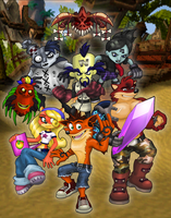 Crash Bandicoot by Zerbear333