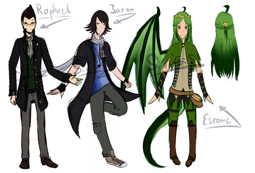 OC designs by Siniaes
