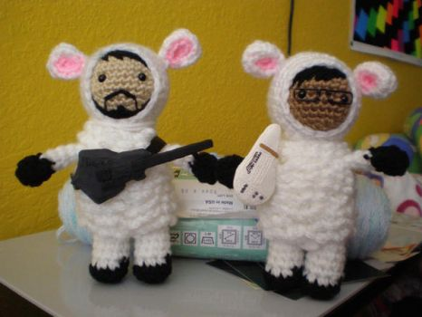 Bret and Jemaine Sheeple by chickenkarma