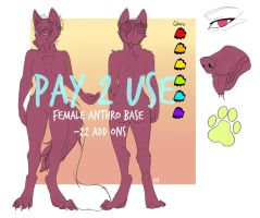::NEW PRICE $5 : 2017 P2U Female Canine Base:: by AtomicMilkshake