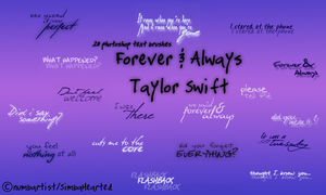 Taylor Swift Lyrical Brushes by SimbaHearted