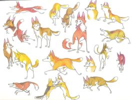 Coyote Stickers by Dead-Raccoons
