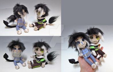 Mini Dolls Syn and Aria by WhittyKitty