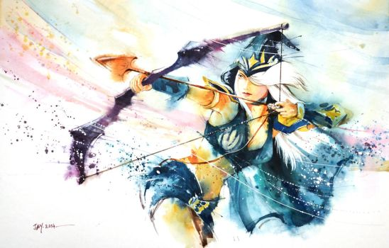 Ashe (League of Legends) by Abstractmusiq