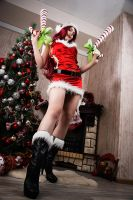 Candy Cane Miss Fortune ~ cosplay by magmasaya