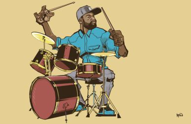 Patrick Favors on Drums by samax