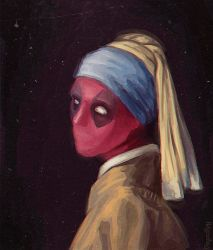 Deadpool without a Pearl Earring by MyLittleLoki