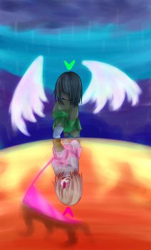 Glitchtale || Betty and Amber by Snowbreeze64