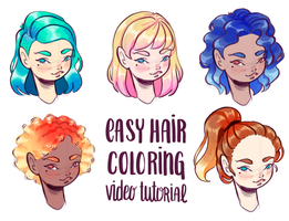 Hair coloring tutorial by PixelationGirl