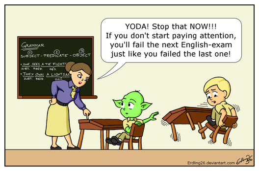 Young Yoda at School by Erdling26