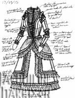 A Dress A Day 17 March 15 by AshenArtifice
