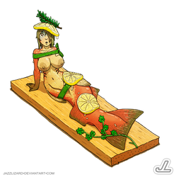 Cedar Planked Salmon by JazzLizard