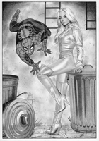 Silver Sable Spider-man by TimGrayson