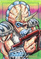 Triceraton sketch card by JLWarner