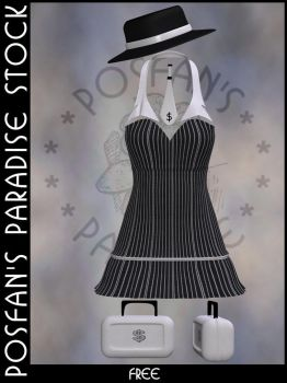 Short Dress 001 with Accessoires by poserfan-stock