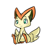 Victini by Myumimon