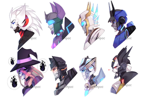 Painted Headshots (2017) by LillinApocalypse