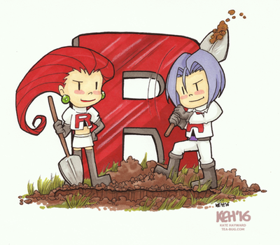 Pokemon 20th Fanart:  Team Rocket by keh-arts