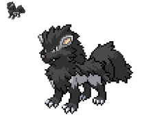 Pokemon fusion: arcanine/mightyena