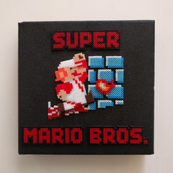 Super Mario Bros. NES cartridge cover by catm0nkey