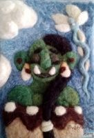 Needlefelted Orc Maiden by rachelillustrates
