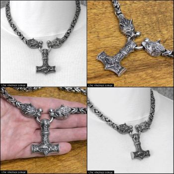 Viking King Necklace with Borobudur Chain by GoodSpiritWolf