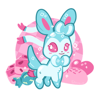 sweet Sylveon by SteveKdA
