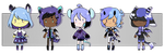 [CLOSED] Blue n Purple Adopt Auction by PK-adopts