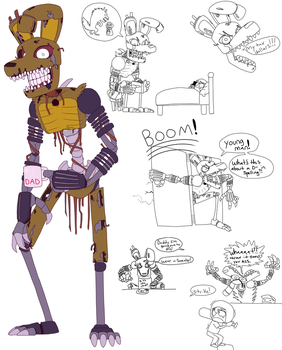 Nightmare Springtrap: Dad Mode by VonderDevil