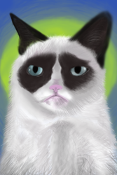 Grumpy Cat Speedpaint by spunionring