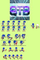 Small Custom Sonic Sprite Sheet by ASparing-AStep