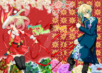Merry X'max n Happy New Year by Inucat