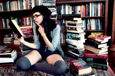 Book Nerd by DiedPhotography